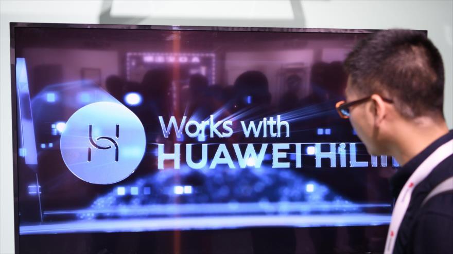 La compañía de telecomunicaciones china Huawei presenta sus productos, Dongguan, provincia de Guangdong, 10 de agosto de 2019. (Foto: AFP)