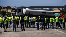 Transportistas de Portugal inician su segundo paro indefinido