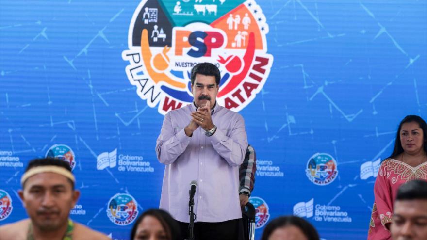 El presidente de Venezuela, Nicolás Maduro, durante un acto en Caracas (capital), 9 de agosto de 2019. (Foto: AFP)