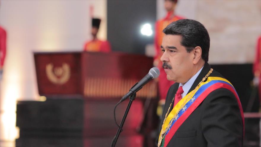 El presidente de Venezuela, Nicolás Maduro, ofrece un discurso en Caracas (la capital), 7 de agosto de 2019. (Foto: AFP)