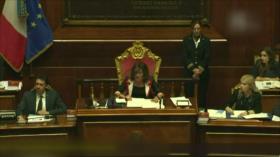 Senado italiano decidirá el martes sobre calendario de la crisis