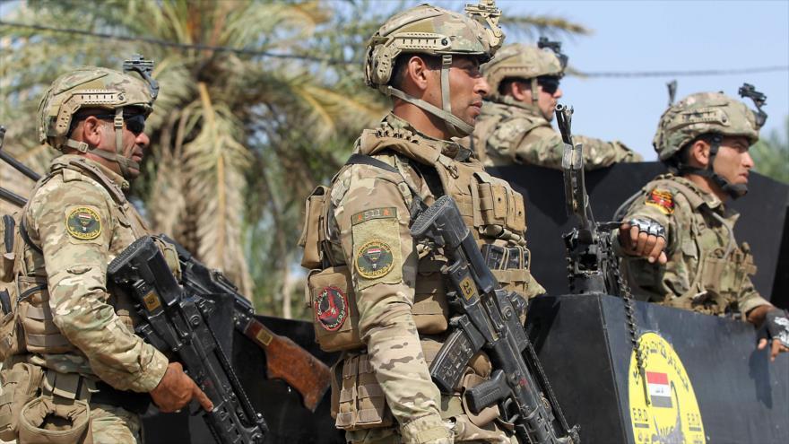 Fuerzas iraquíes en una operación en el norte de Bagdad (capital) en busca de miembros de Daesh, 21 de julio de 2019. (Foto: AFP)