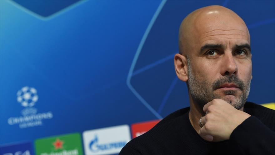 Pep Guardiola, entrenador del Manchester City, durante una rueda de prensa, 11 de marzo de 2019. (Foto: AFP)