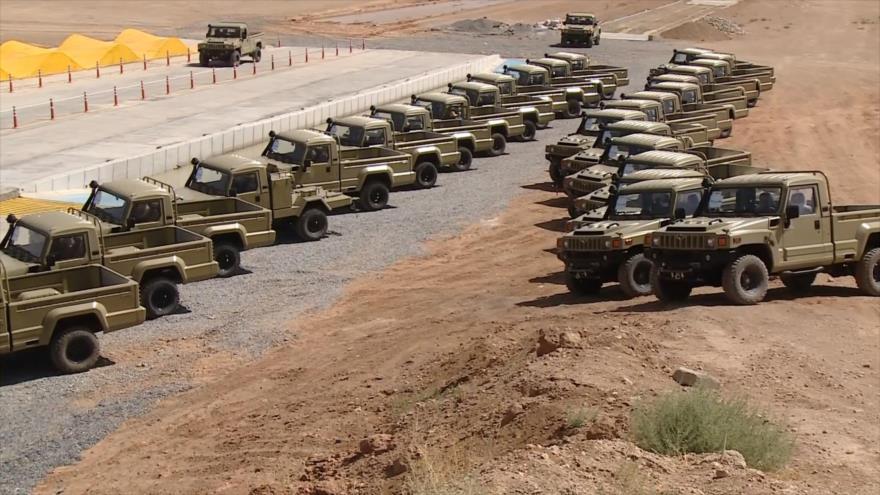Irán presenta nuevos vehículos blindados tácticos multipropósito