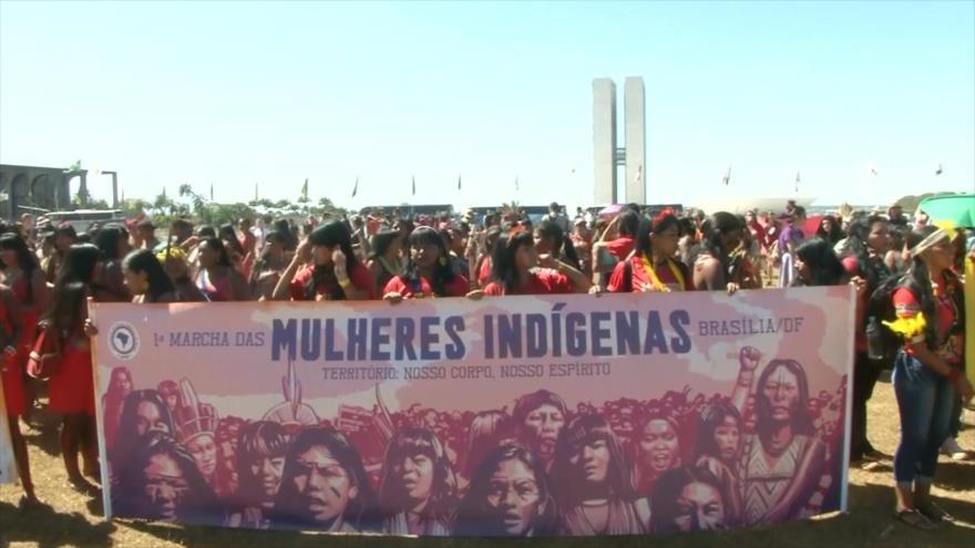 Indígenas brasileñas rechazan políticas destructivas de Bolsonaro