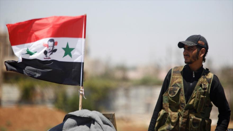 Un soldado del Ejército de Siria en la provincia de Hama, en el norte del país.
