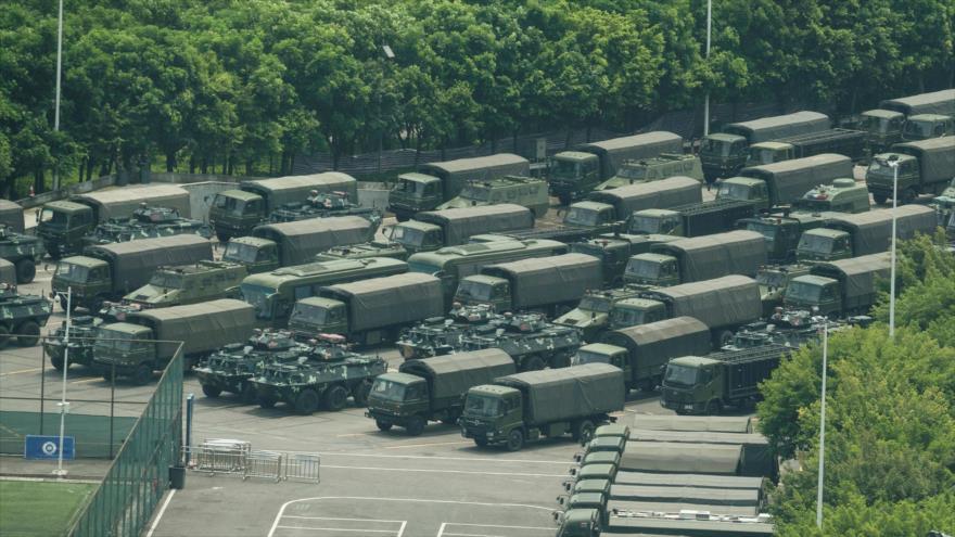 Fuerzas militares chinas están concentradas cerca de Hong Kong