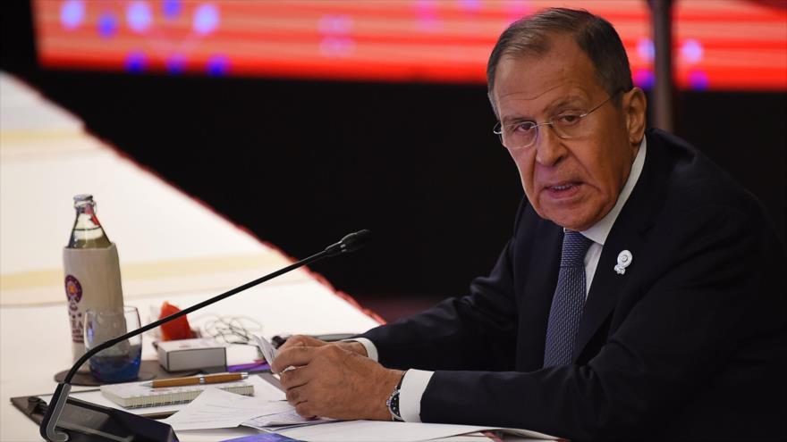 El canciller de Rusia, Serguéi Lavrov, en una reunión en Bangkok, capital de Tailandia, 31 de julio de 2019. (Foto: AFP)