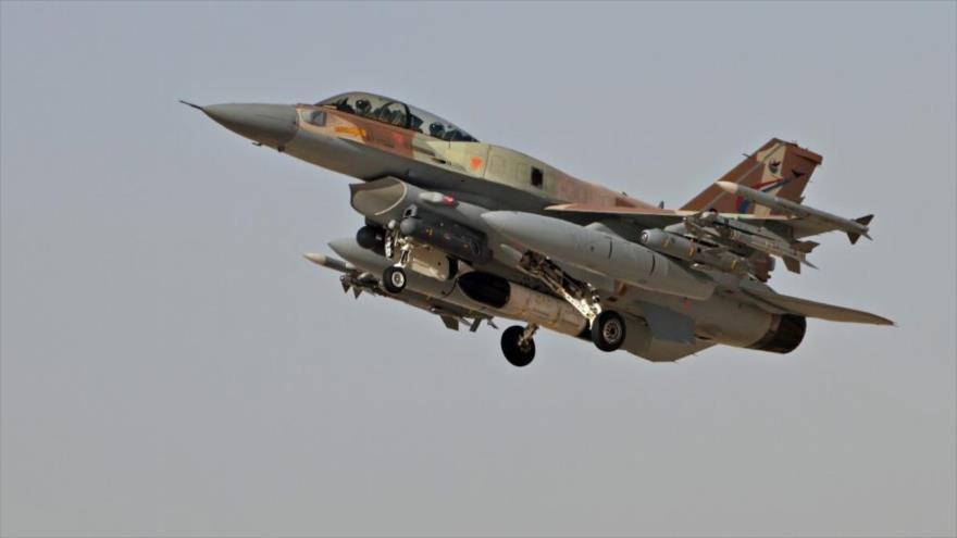 Un caza F-16 del ejército israelí.