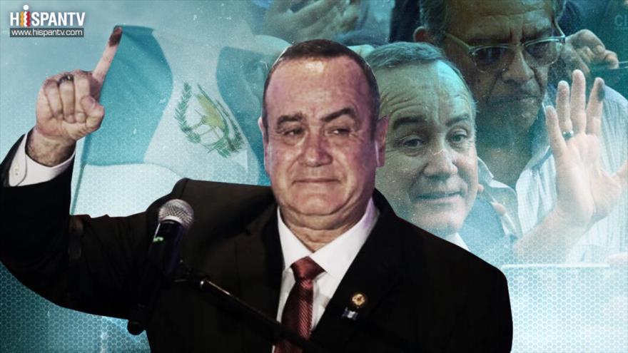 El presidente electo de Guatemala Alejandro Giammattei