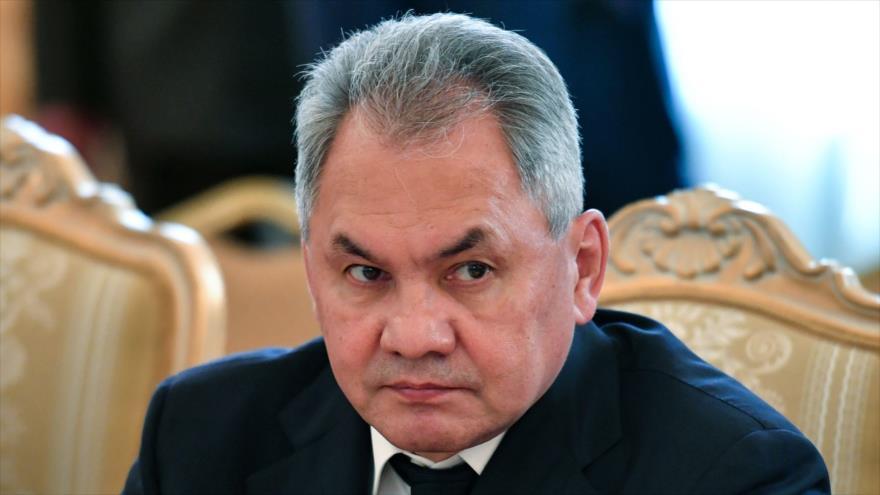 El ministro de Defensa de Rusia, Serguéi Shoigú, en encuentro celebrado en Moscú (capital rusa), 24 de junio de 2019. (Foto: AFP)