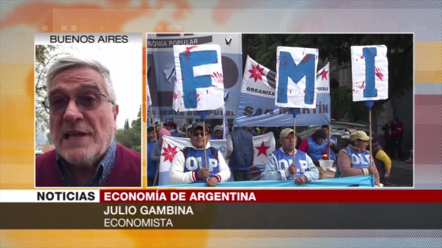 Gambina: Argentina no está en condición de pagar su deuda al FMI