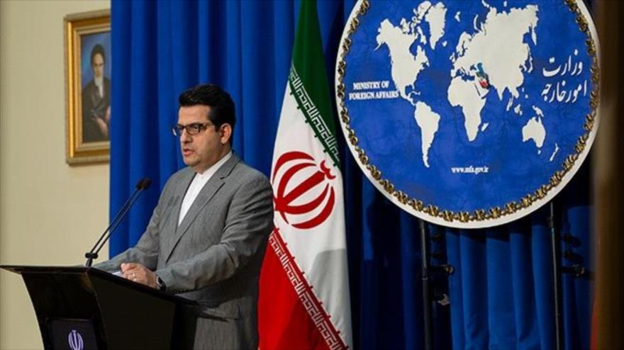 El portavoz de la Cancillería de Irán, Seyed Abás Musavi, en una conferencia de prensa en Teherán, la capital, 19 de agosto de 2019. (Foto: Fars)