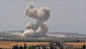 Medios: Fuerza Aérea de Siria ataca convoy militar turco en Idlib