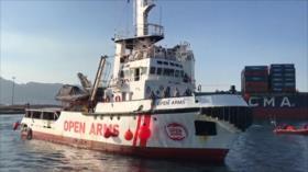 El buque Open Arms rechaza desembarcar en España