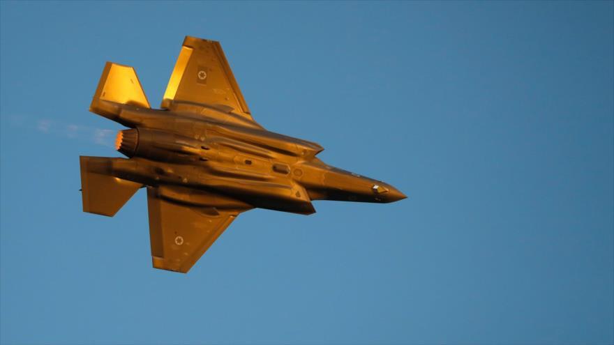 Un caza israelí F-35 en la ceremonia de graduación de pilotos israelíes en el desierto del Néguev, 27 de junio de 2019. (Foto: AFP)