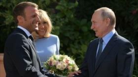 Macron y Putin optimistas sobre el futuro de Ucrania
