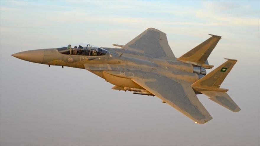 Un avión de combate de la Fuerza Aérea de Arabia Saudí.