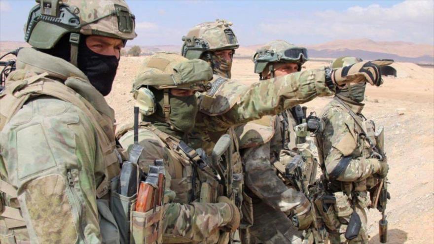 Fuerzas especiales rusas desplegadas en el centro de Siria.