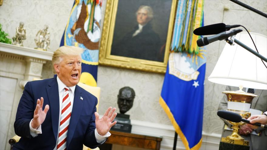 El presidente de EE.UU., Donald Trump, habla con la prensa en la Casa Blanca, 20 de agosto de 2019. (Foto: AFP)