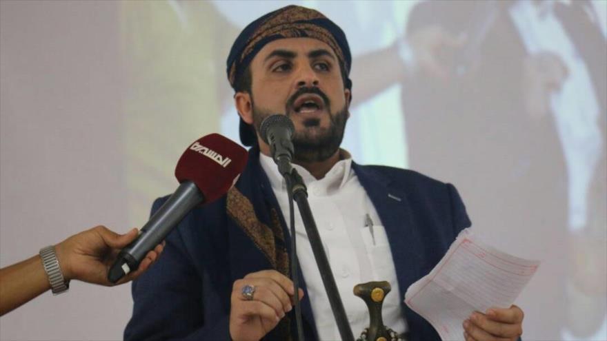 El portavoz del movimiento popular Ansarolá de Yemen, Muhamad Abdel Salam.