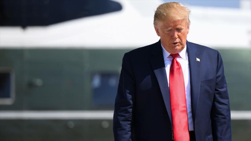 El presidente de EE.UU., Donald Trump, antes de partir de la Base Conjunta Andrews en el estado de Maryland, 9 de agosto de 2019. (Foto: AFP)