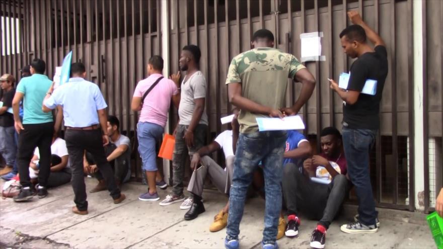 Migrantes piden asilo y refugio en frontera sur de México
