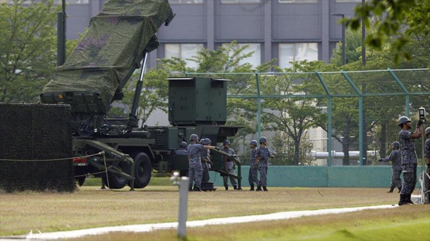 Un sistema estadounidense de misiles de defensa antiaérea Patriot (PAC-3) en Tokio (capital de Japón).