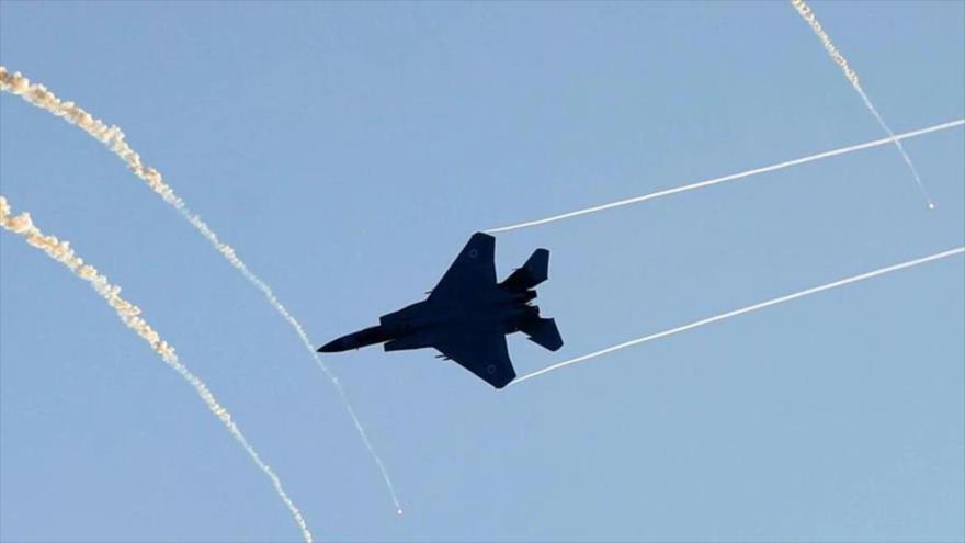 Un avión F-15 de la fuerza aérea israelí en unas maniobras militares.