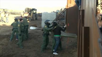 Centenares de migrantes cruzan diariamente la frontera hacia EEUU