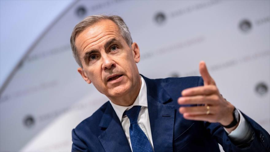Mark Carney, gobernador del Banco del Reino Unido, en una conferencia de prensa en Londres, capital británica, 1 de agosto de 2019. (Foto: AFP)