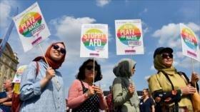 Manifestantes alemanes marchan contra el racismo en Dresden
