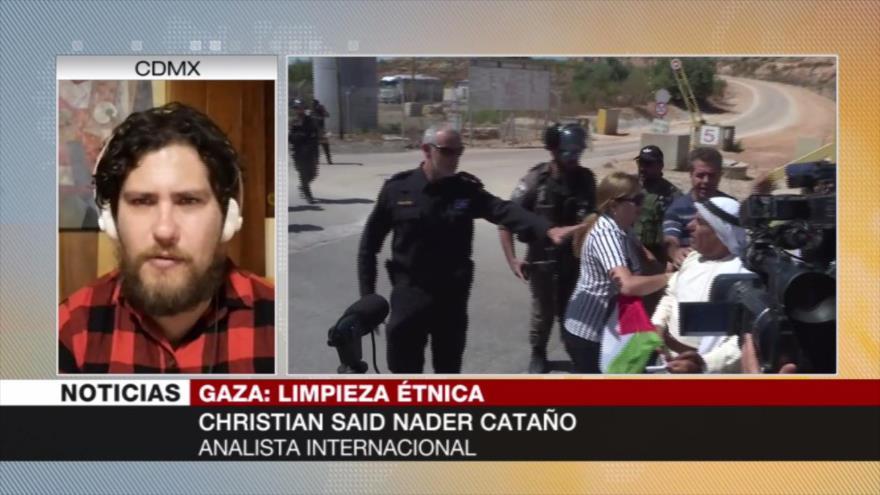 Christian Said: Israel promueve una limpieza étnica en Gaza