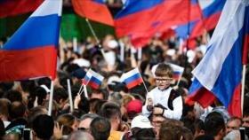 Rusia celebra el Día de la Bandera con espectaculares atracciones