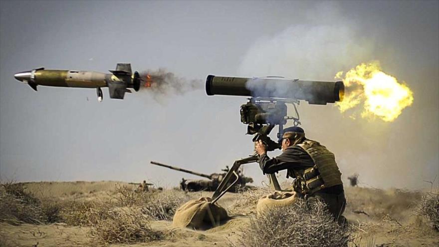 Disparan un misil antitanque iraní clase Toophan.