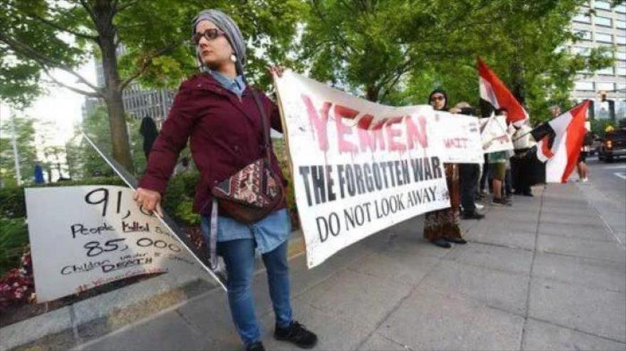 Protesta en Detroit contra apoyo de EEUU a la guerra contra Yemen