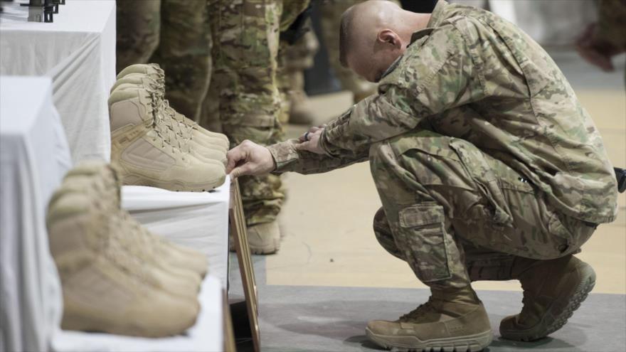 El funeral de varios soldados de EE.UU. que perdieron la vida en Afganistán.