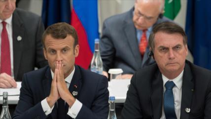 Bolsonaro exige que Macron se disculpe para aceptar ayuda del G7