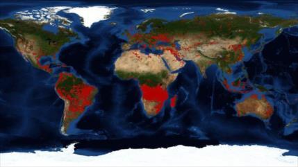 Hay más incendios en África subsahariana que en la Amazonia