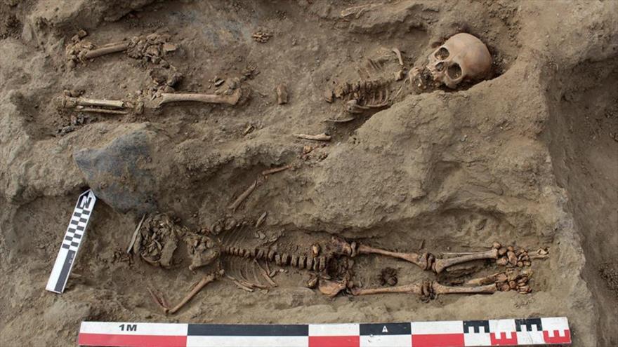 Hallan decenas de restos de niños sacrificados en la antigua tribu Chimú en Perú.