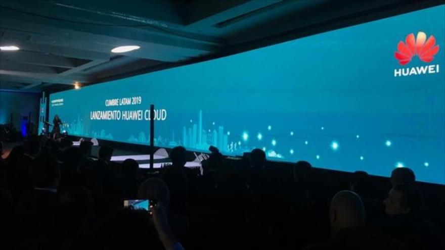 La ceremonia del lanzamiento de Huawei Cloud en Santiago de Chile, 28 de agosto de 2019.