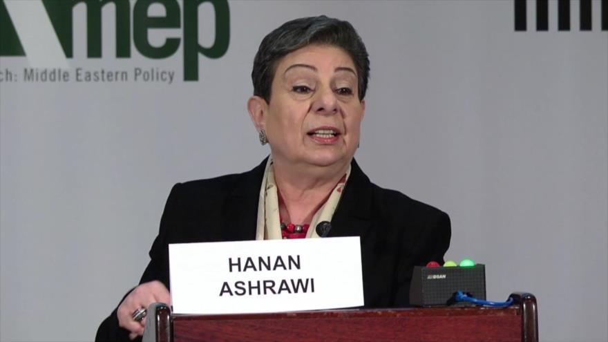 Hanan Ashrawi, integrante del Comité Ejecutivo de la Organización para la Liberación de Palestina (OLP).