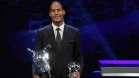 Virgil Van Dijk gana premio de mejor jugador de la UEFA