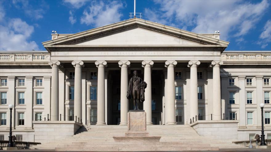 La sede del Departamento del Tesoro de Estados Unidos, ubicada en Washington, la capital.