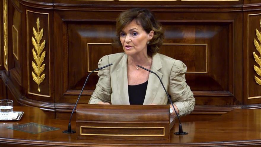 Vicepresidenta española explica gestión de la crisis de Open Arms
