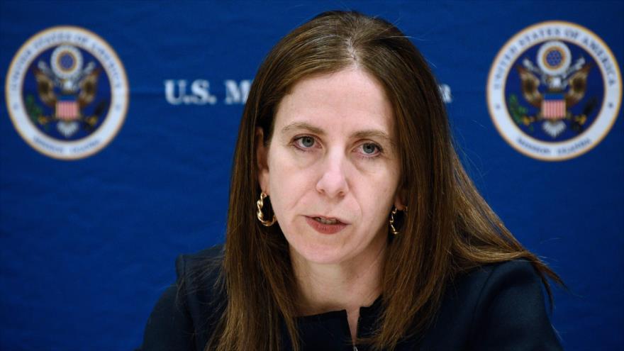 La subsecretaria para Terrorismo e Inteligencia Financiera del Departamento del Tesoro de EE.UU., Sigal Mandelker, 8 de noviembre de 2018. (Foto: AFP)