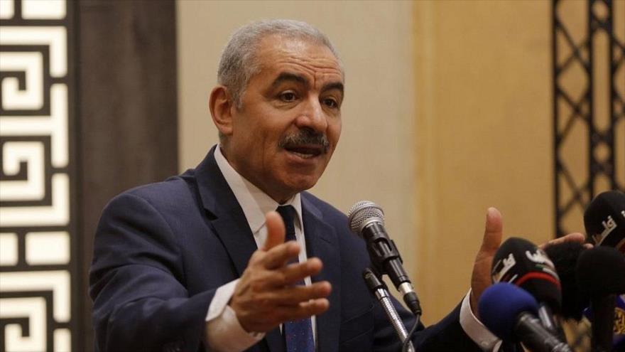El primer ministro palestino, Muhamad Shtayeh, durante una reunión en Ramalá, 30 de julio de 2019. (Foto: Wafa)