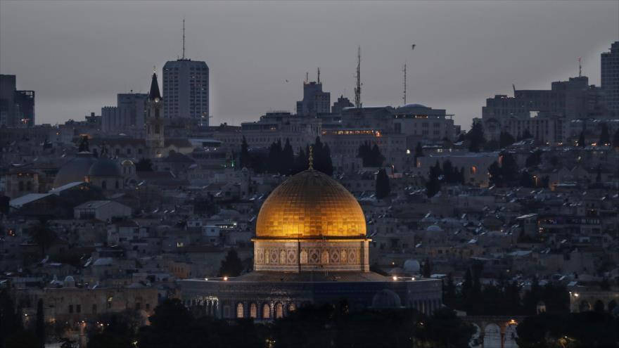 La Cúpula de la Roca de la Mezquita al-Aqsa, en la ciudad de Al-Quds (Jerusalén), 24 de abril de 2019. (Foto: AFP)