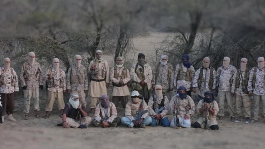 Los integrantes del grupo terroristas EIIL (Daesh, en árabe), en el sur de Yemen.