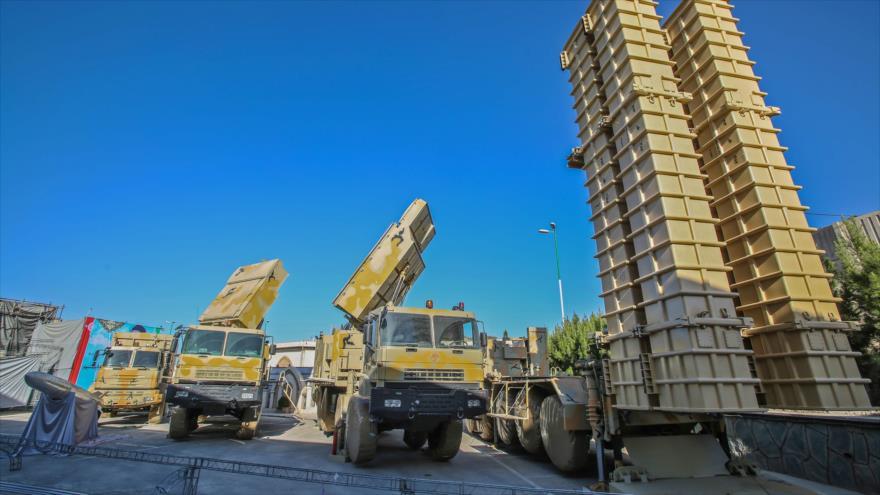 El sistema antimisiles Bavar 373, de fabricación iraní, presentado durante una ceremonia en Teherán, 22 de agosto de 2019. (Foto: AFP)